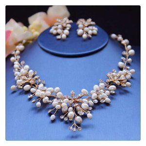 Vintage Pearl Necklace With Earring